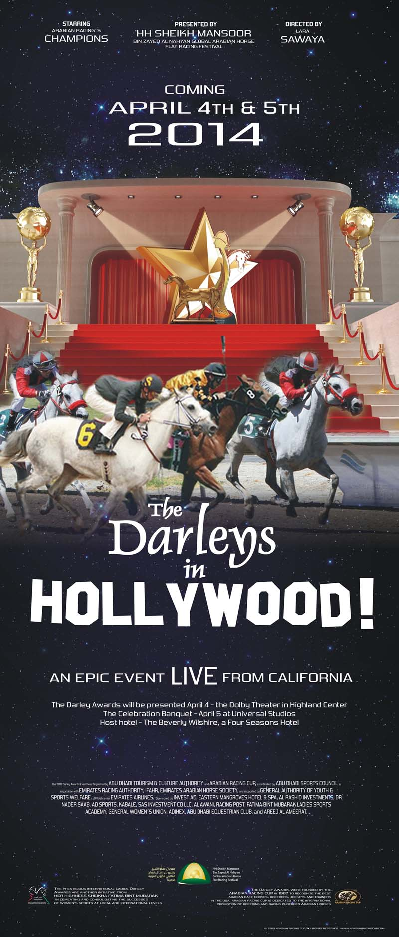 Darley Awards Hollywood banner
