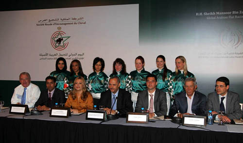 press conference in Morocco