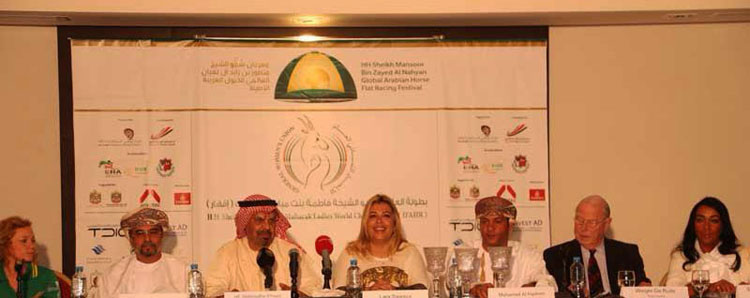 press conference in Oman